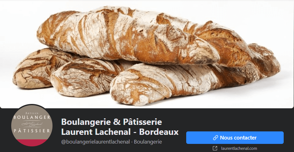 Photo de couverture Facebook boulangerie