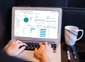 Tableau de bord Google Analytics sous Mac Pro