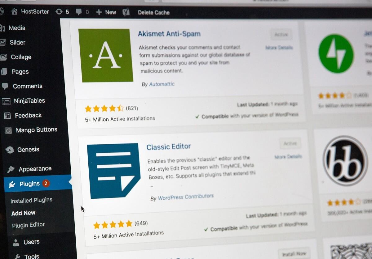 Interface WordPress