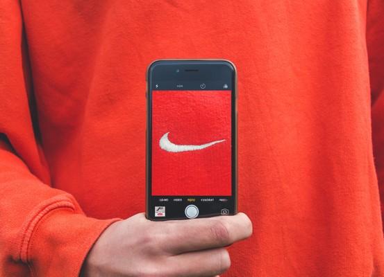 Logo sur sweat Nike