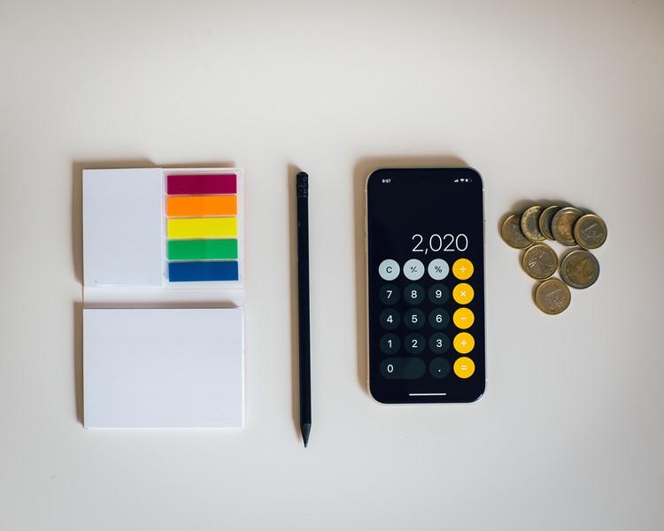 calculatrice et post-it