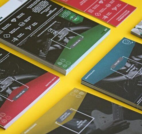 Flyers imprimés colorés et professionnels