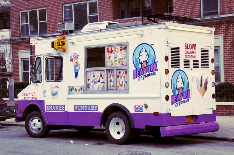 camion de vente de glace