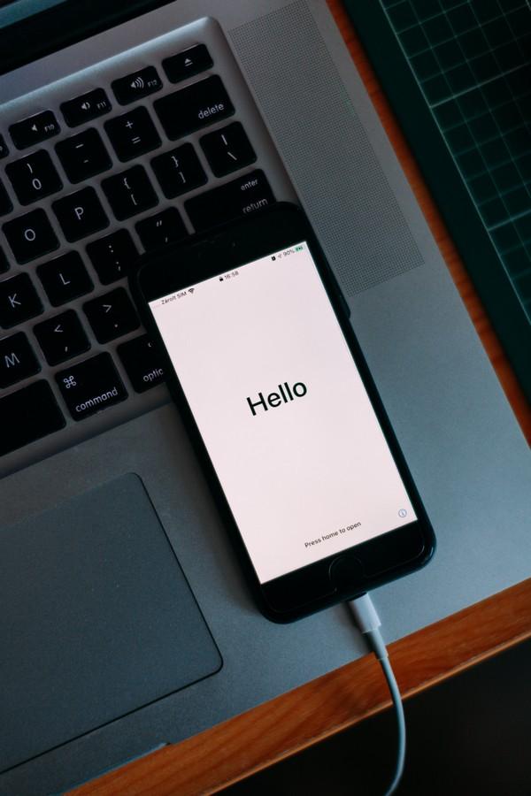 message bienvenue portable